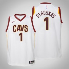 Youth Cleveland Cavaliers #1 Nik Stauskas White Association Jersey