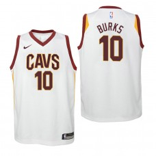 Youth Cleveland Cavaliers #10 Alec Burks White Association Jersey