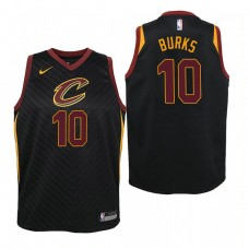 Youth Cleveland Cavaliers #10 Alec Burks Black Statement Jersey