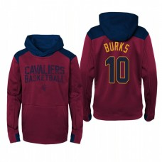 Youth Cleveland Cavaliers #10 Alec Burks Maroon Outerstuff Off The Court Hoodie