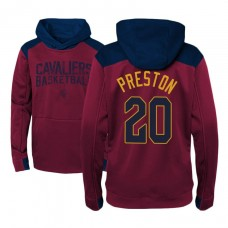 Youth Cleveland Cavaliers #20 Billy Preston Maroon Outerstuff Off The Court Hoodie