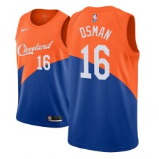 Youth Cleveland Cavaliers #16 Cedi Osman Blue City Jersey