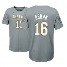 Youth Cleveland Cavaliers #16 Cedi Osman Gray City T-Shirt