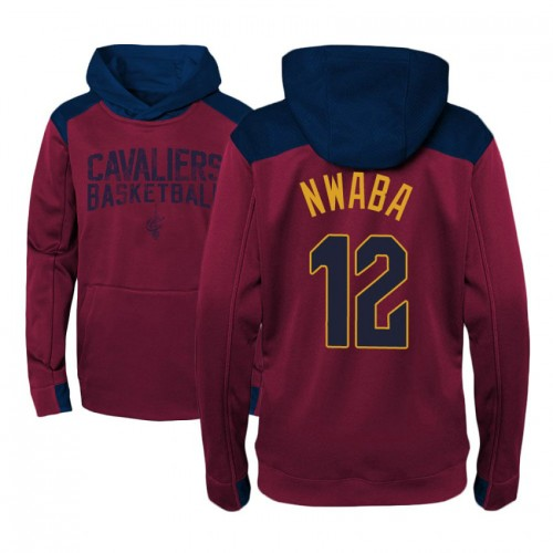Youth Cleveland Cavaliers #12 David Nwaba Maroon Outerstuff Off The Court Hoodie
