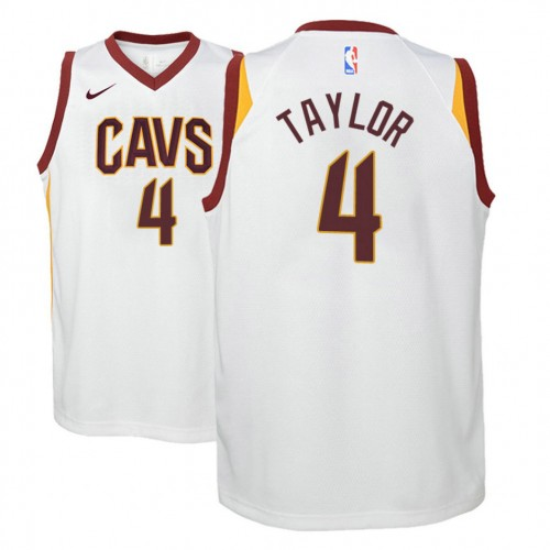 Youth Cleveland Cavaliers #4 Isaiah Taylor White Association Jersey