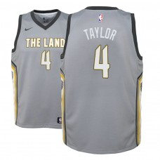 Youth Cleveland Cavaliers #4 Isaiah Taylor Gray City Jersey