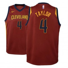 Youth Isaiah Taylor Cavaliers Icon Edition Maroon Jersey