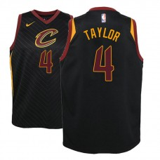 Youth Cleveland Cavaliers #4 Isaiah Taylor Black Statement Jersey