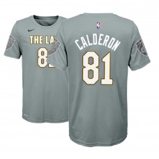 Youth Jose Calderon Cavaliers #81 City Edition Gray T-Shirt