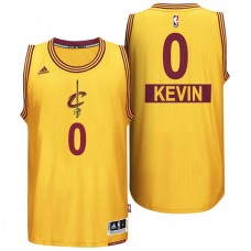 Youth Cleveland Cavaliers #0 Kevin Love Gold Christmas Jersey