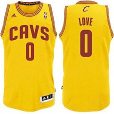 Youth Cleveland Cavaliers #0 Kevin Love Gold Hardwood Classics Jersey