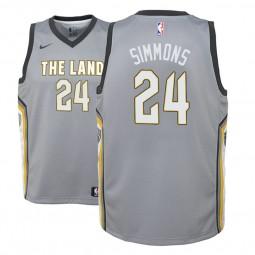 Youth Kobi Simmons Cavaliers City Edition Gray Jersey