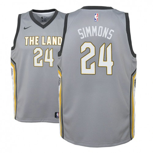 Youth Kobi Simmons Cavaliers City Edition Gray Jersey