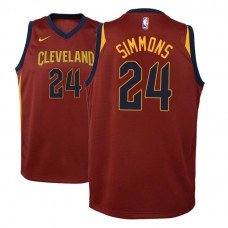 Youth Cleveland Cavaliers #24 Kobi Simmons Icon Jersey