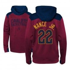 Youth Larry Nance Jr. Cavaliers #22 Maroon Off The Court Hoodie