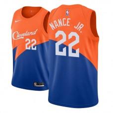 Youth Cleveland Cavaliers #22 Larry Nance Jr. Blue City Jersey