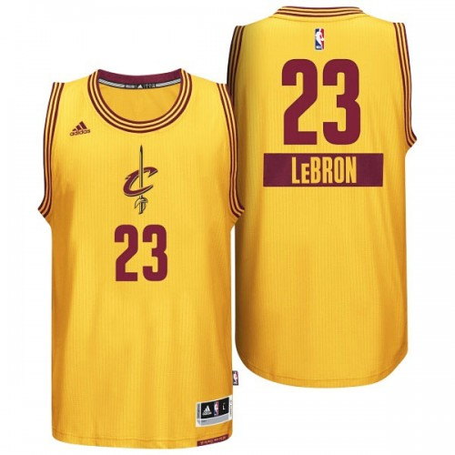 Youth LeBron James Cleveland Cavaliers #23 2014 Christmas Day Gold Jersey
