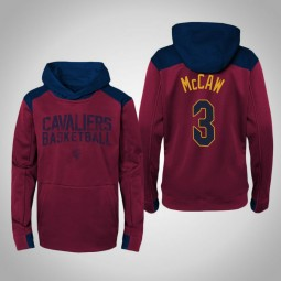 Youth Patrick McCaw Cavaliers #3 Maroon Outerstuff Off The Court Hoodie