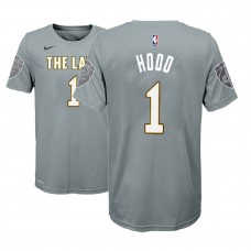 Youth Cleveland Cavaliers #1 Rodney Hood Gray City T-Shirt